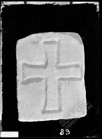 Rectangular stone with relief CROSS