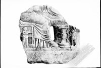 Fragment of gravestone with image of funeral feast