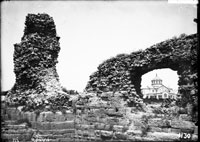 Curtain wall 17, fragment of tower XV, St. Vladimir's Church in the breach