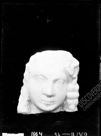 Marble head of young Dionysos or Ariadne, Late Roman period