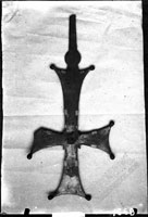 Copper finial cross, large size, no. 1650/09