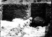 Excavation trench to the south-west of ancient Greek street