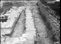 Drain at the south-east border of the excavation trench above the basilica