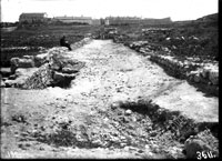 West transverse street after its excavation to the foot of the first layer