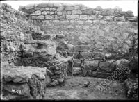 Wall YU (north-west wall of house 1 in quarter excavated in 1936-1937