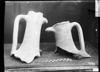 AMPHORA necks with handles, one made in Heraclea, with englyphic stamp