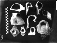 Fragments of cooking VESSELS (pots, lids for pots, handle)