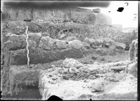 Excavations near the west side of 1935 Basilica